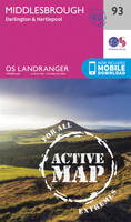 Ordnance Survey - Middlesbrough, Darlington & Hartlepool (OS Landranger Active Map) - 9780319474167 - V9780319474167