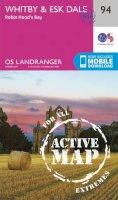 ORDNANCE SURVEY - Whitby, Esk Dale & Robin Hood's Bay (OS Landranger Active Map) - 9780319474174 - V9780319474174