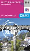 Ordnance Survey - Leeds & Bradford, Harrogate & Ilkley (OS Landranger Active Map) - 9780319474273 - V9780319474273