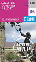 Ordnance Survey - Leicester, Coventry & Rugby (OS Landranger Active Map) - 9780319474631 - V9780319474631