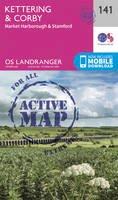 Ordnance Survey - Kettering & Corby (OS Landranger Active Map) - 9780319474648 - V9780319474648