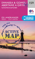 Ordnance Survey - Swansea & Gower, Carmarthen (OS Landranger Active Map) - 9780319474822 - V9780319474822