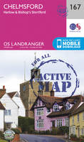 Ordnance Survey - Chelmsford, Harlow & Bishop's Stortford (OS Landranger Active Map) - 9780319474907 - V9780319474907