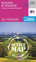 Ordnance Survey - Reading, Windsor, Henley-on-Thames & Bracknell (OS Landranger Active Map) - 9780319474983 - V9780319474983