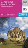 Ordnance Survey - Aldershot & Guildford, Camberley & Haslemere (OS Landranger Active Map) - 9780319475096 - V9780319475096