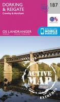 Ordnance Survey - Dorking, Reigate & Crawley (OS Landranger Active Map) - 9780319475102 - V9780319475102