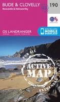 Ordnance Survey - Bude & Clovelly, Boscastle & Holsworthy (OS Landranger Active Map) - 9780319475133 - V9780319475133