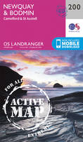 Ordnance Survey - Newquay, Bodmin, Camelford & St Austell (OS Landranger Active Map) - 9780319475232 - V9780319475232