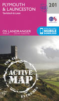 ORDNANCE SURVEY - Plymouth & Launceston, Tavistock & Looe (OS Landranger Active Map) - 9780319475249 - V9780319475249