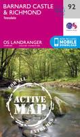 ORDNANCE SURVEY - Barnard Castle & Richmond (OS Landranger Map) - 9780319475416 - V9780319475416