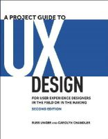 Unger, Russ; Chandler, Carolyn - Project Guide to UX Design - 9780321815385 - V9780321815385