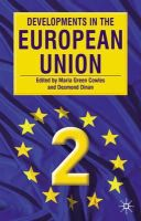 Maria Green Cowles~Desmond Dinan - Developments in the European Union 2 - 9780333961681 - KEX0164468