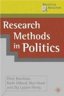 Peter Burnham~Karin Gilland~Wyn Grant~Zig Layton-Henry - Research Methods in Politics (Political Analysis S.) - 9780333962534 - KEX0163915