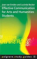 van, Emden - Effective Communication for Arts and Humanities Students (Palgrave Study Guides) - 9780333984871 - V9780333984871