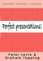 Levin, Peter; Topping, Graham - Perfect Presentations! - 9780335219056 - V9780335219056