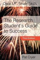Cryer, Pat - The Research Student's Guide to Success - 9780335221172 - V9780335221172