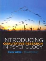 Willig, Carla - Introducing Qualitative Research in Psychology - 9780335244492 - 9780335244492