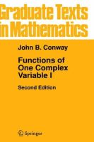 Conway, John B. - Functions of One Complex Variable - 9780387903286 - V9780387903286