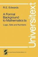 Edwards, R. E. - Formal Background to Mathematics - 9780387904313 - V9780387904313