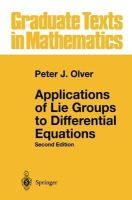 Olver, Peter J. - Applications of Lie Groups to Differential Equations - 9780387950006 - V9780387950006