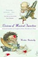 Slonimsky, Nicolas - Lexicon of Musical Invevtive - 9780393320091 - V9780393320091