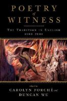 Forche, Carolyn; Wu, Duncan - Poetry of Witness - 9780393340426 - V9780393340426
