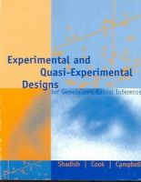 Shadish, William R., Cook, Thomas D., Campbell, Donald T. - Experimental and Quasi-Experimental Designs for Generalized Causal Inference - 9780395615560 - V9780395615560
