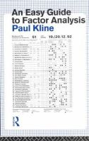Kline, Paul - An Easy Guide to Factor Analysis - 9780415094900 - V9780415094900
