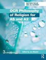 Oliphant, Jill, Taylor, Matthew - OCR Philosophy of Religion for AS and A2 - 9780415528696 - V9780415528696