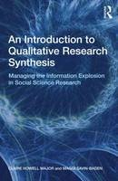 Major, Claire Howell; Savin-Baden, Maggi - An Introduction to Qualitative Research Synthesis - 9780415562867 - V9780415562867