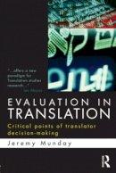 Munday, Jeremy - Evaluation in Translation - 9780415577700 - V9780415577700