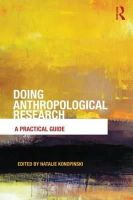 - Doing Anthropological Research - 9780415697552 - V9780415697552