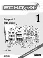 Desconocido - Echo Express 1 Workbook B 8 Pack New Edition - 9780435394196 - V9780435394196