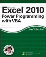 Walkenbach, John - Excel 2010 Power Programming with VBA (Mr. Spreadsheet's Bookshelf) - 9780470475355 - V9780470475355