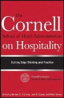 - The Cornell School of Hotel Administration on Hospitality - 9780470554999 - V9780470554999