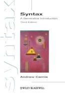 Carnie, Andrew - Syntax - 9780470655313 - V9780470655313