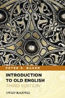 Baker, Peter S. - Introduction to Old English - 9780470659847 - V9780470659847