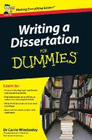 Winstanley, Carrie - Writing a Dissertation For Dummies - 9780470742709 - V9780470742709