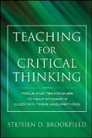 Brookfield, Stephen D. - Teaching for Critical Thinking - 9780470889343 - V9780470889343