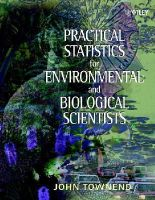 Townend, John - Practical Statistics for Environmental and Biological Scientists - 9780471496656 - V9780471496656