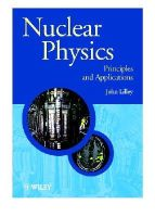 Lilley, J.S. - Nuclear Physics - 9780471979364 - V9780471979364