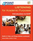 Lockwood, Robyn Brinks, Folse, Keith S. - 4 Point Listening for Academic Purposes (with Audio CD): Introduction to EAP (Four Point) - 9780472036714 - V9780472036714