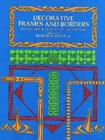 Gillon,Edmund V. - Decorative Frames and Borders - 396 copyright-free designs for artists and craftsmen - 9780486229287 - KEB0001600