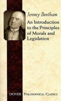 Bentham, Jeremy - An Introduction to the Principles of Morals and Legislation - 9780486454528 - V9780486454528