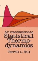 Hill, Terrell L. - An Introduction to Statistical Thermodynamics - 9780486652429 - V9780486652429