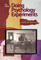 Martin, David W. - Doing Psychology Experiments - 9780495115779 - V9780495115779