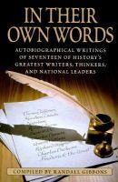 Gibbons, Randall, Random House Value Publishing, Rh Value Publishing - In Their Own Words - 9780517122280 - KHS1027247