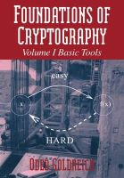 Goldreich, Oded - Foundations of Cryptography: Volume 1, Basic Tools - 9780521035361 - V9780521035361