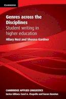 Nesi, Hilary; Gardner, Sheena - Genres Across the Disciplines - 9780521149594 - V9780521149594