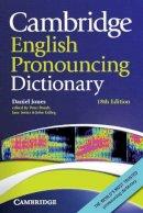 Jones, Daniel - Cambridge English Pronouncing Dictionary - 9780521152532 - V9780521152532